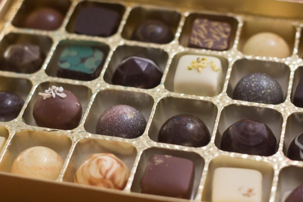 Handmade luxury fine artisan chocolate selection box