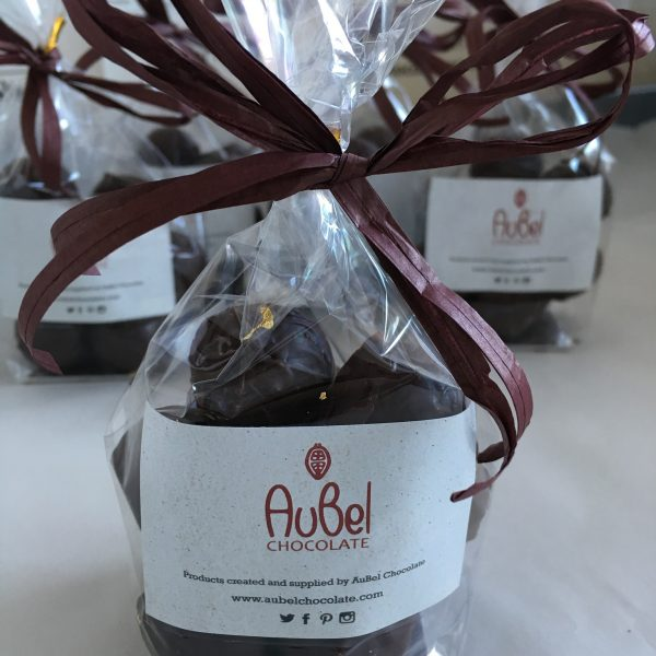 Single origin dark chocolate truffle