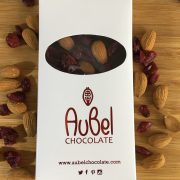 Signle origin madagascar dark chocolate with almond and cranberry
